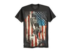 Ring of Fire Men's American Flag T-Shirt, Only at Macy's - T-Shirts - Men - Macy's Gold T Shirts, Men Online, Rings Cool, American Flag, Fire, Mens Tops, Flags, Print Design, Nyc