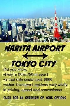 How to Get from Narita Airport to Tokyo: Price, Speed, Convenience Tokyo Japan Travel, Japan Travel Guide, Go To Japan, Visit Japan, Asia Travel, Japan Trip, Tokyo Trip, Tokyo Vacation, Japan Guide
