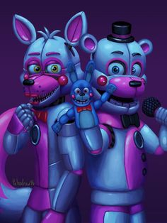 Funtime Freddy and funtime foxy amazing drawing