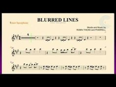Blurred Lines - Robin Thicke  - Tenor Saxophone Sheet Music, Chords, and Vocals