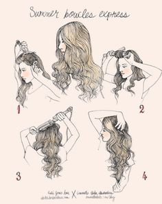 Loose curls tutorial by Samantha Hahn