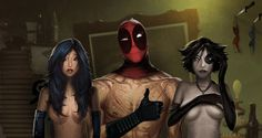 Psylocke, Deadpool, & Domino