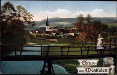 Ansichtskarte / Postkarte Gruß aus Westfalen, GREETINGS FROM WESTFALEN, c 1914