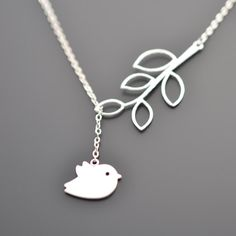 EASTER SALE  A Cute Chick and Branch Neckalce by LilliDolli, $21.00