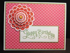 Five-Way Flower Stampin' Up! Rubber Stamping Handmade Cards