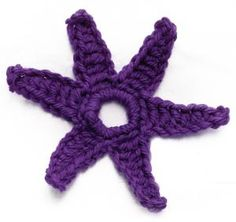 Crochet Motif IX:  Six-pointed Star