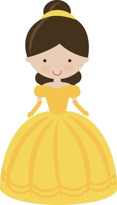 Fairytale Princess In Yellow 0113 8MISS KATE CUTTABLES)