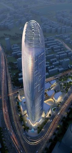 Greenland Puli Center, Jinan, China by Skidmore Owings & Merrill (SOM) Architects :: 61 floors, height 301m