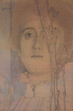 Jan Toorop, Portret van een dame - 1895