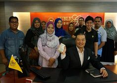 Picture with PG Chairman at Penang, Malaysia