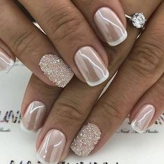 """If you're unfamiliar with nail trends and you hear the words """"coffin nails,"""" what comes to mind? It's not nails with coffins drawn on them. It's long nails with a square tip, and the look has. Gorgeous Nails, Pretty Nails, Pink Nails, Glitter Nails, Pink Glitter, Sparkle Nails, Glitter Bomb, Engagement Nails, Nagellack Design"""