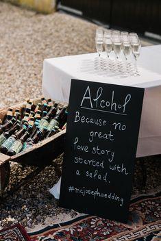Chalkboard sign ideas for rustic weddings