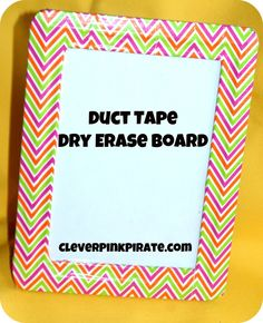 An easy DIY project, great for Mother's Day. Duct tape = a dollar store frame = Dry Erase Board.