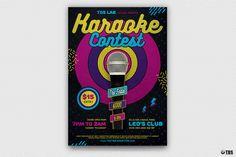 """Check out my @Behance project: """"Karaoke Flyer Template V6"""" https://www.behance.net/gallery/54098549/Karaoke-Flyer-Template-V6"""