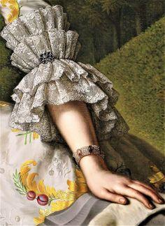 Portrait of Charlotte-Beatrix Strick van Linschoten by Mattheus Verheyden, c.1755