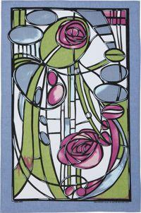 Mackintosh Lilac Linen Tea Towel by Ulster Weavers