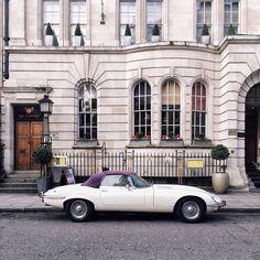 #Jaguar spotted on streets of London via @gregburney. English classic!  // #london #birline #londonliving