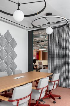 Avito Sales Department - Picture gallery 1 Office Interior Design, Office Interiors, Office Meeting, Russian Federation, Saint Petersburg, Ceiling Lights, Space, Gallery, Room