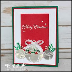 Stampin Up Christmas, Christmas Cards To Make, Christmas Bells, Holiday Cards, Christmas Poinsettia, Xmas Cards, Poinsettia Cards, Hanukkah Cards, Christmas Catalogs