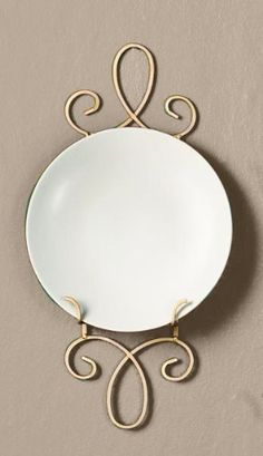 Augusta Narrow 1 Tier 16 h Gold Vertical Wall Rack for Plates by Décor and & Wrought Iron Wall Plate Holder | Scottish Lion Wrought Iron - Wall ...