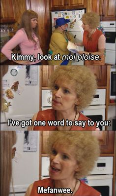 """And every time she said """"look at moi ploise"""". 29 Times Kath From """"Kath And Kim"""" Was Fucking Hilarious Sarcastic Quotes, Funny Quotes, Funny Memes, Hilarious, Kim Tv, Aussie Memes, People Of Interest, Lesbian Wedding, Best Tv Shows"""