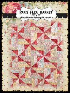 Paris Flea Market Quilt  kit, etsy