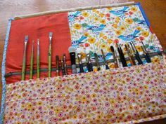 Handmade paint brush case