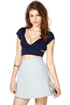 Nasty Gal Not Your Sweetie Top - Navy