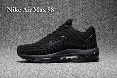 Nike Air VaporMax 2018 Flyknit Black Gray Women Men Shoes. Air Max 98 Men  All Black