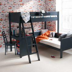 Single Loft Bed, Sofa Bed With Storage, Kids Beds With Storage, Storage Beds, Cool Kids Bedrooms, Teenage Bedrooms, High Sleeper Bed, High Beds, Sofa Bed Mattress