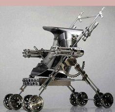 """Tactical stroller"" - The assault weapon for mothers with small children. Don't leave home without it! ~;^]"