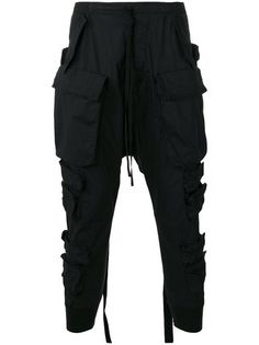 Unravel Project cargo pocket drop-crotch trousers