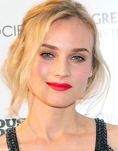 Focus on lips with Diane Kruger.