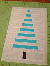 Christmas tree quilt square