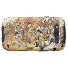 The Seven Gods Good Fortune in the Treasure Boat Galaxy S3 Covers #gift #accessory #gods #fortune #treasure #boat #legend #myth #Japan #japanese #oriental #art #classic #vintage