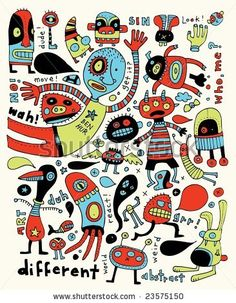 Find Completely Crazy Doodles stock images in HD and millions of other royalty-free stock photos, illustrations and vectors in the Shutterstock collection. Vintage Robots, Vintage Cartoon, Robot Illustration, Illustrations, Doodle Cartoon, Cartoon Art, Collages, Alien Drawings, Retro Rocket