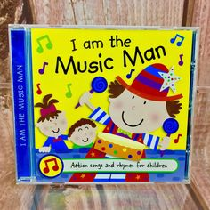 I am the Music Man CD Kids Nursery Rhymes action Songs 21 tracks little stars Kids Nursery Rhymes, Rhymes For Kids, Action Songs, Cds For Sale, The Music Man, Cd Audio, Little Star, The Man, Stars