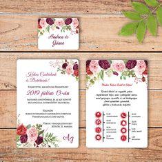 bordó rózsás esküvői meghívó Pregnancy Months, Planer, Big Day, Wedding Planning, Wedding Invitations, Wedding Decorations, Wedding Dresses, Invite, Weddings