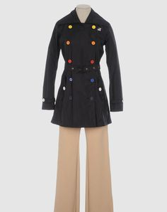 Cute raincoat with multi-colored buttons