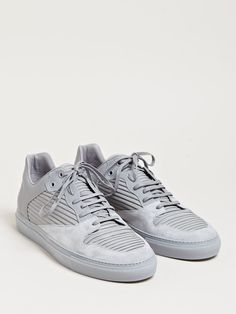 Balenciaga Mens Raised Leather Panel Trainers