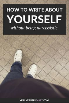 Writing about yourself does not automatically mean you're self absorbed. Click…