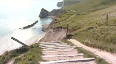 Part of the path that is missing at Durdle Door, Dorset... 1 May, 2013. Stay safe, friends!