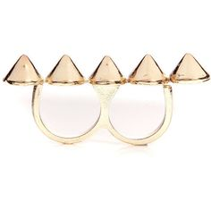 Aveline Spike Double Ring ($12) ❤ liked on Polyvore
