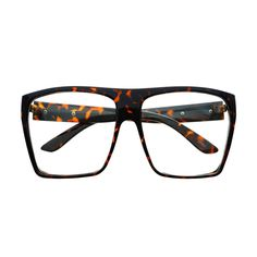 Geeky Oversized Large Square Flat Top Glasses Frames FT31