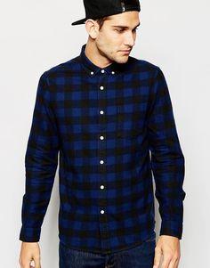 ASOS+Shirt+In+Buffalo+Check+With+Long+Sleeves