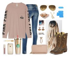 Mall trip by aw-hell-naw on Polyvore featuring polyvore, moda, style, Victoria's Secret, MICHAEL Michael Kors, Niino Jewelry, Ray-Ban, Justin Boots, Ilia, Burberry, fashion and clothing