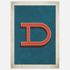 Vintage Letter D 11x14 now featured on Fab.