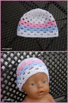 Most Popular baby born kleertjes haken Ideas Crochet Baby Hat Patterns, Crochet Baby Hats, Crochet Gifts, Knitting Dolls Clothes, Doll Clothes, Baby Born Clothes, Baby Pop, Crochet Beanie Hat, Baby Dolls
