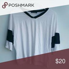 Brandy Melville flowy shirt RARE Cute varsity-style top (: Brandy Melville Tops