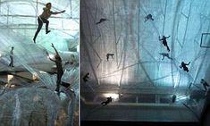 The transparent 'bouncy castle' art installation